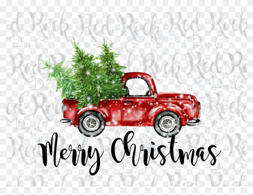 Red truck wuth a christmas tree clipart clip royalty free Merry Christmas Truck - Red Truck With Christmas Tree ... clip royalty free