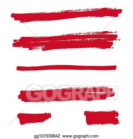 Clip Art Vector - Red highlighter marker. Stock EPS ... vector royalty free
