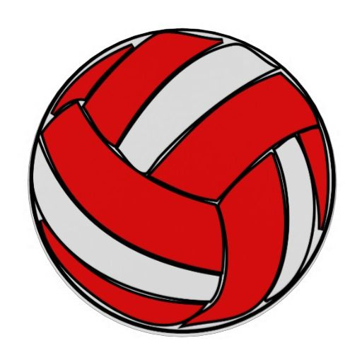 Red volleyball clipart free download Red and White Volleyball Poker Chips | Zazzle.com | RGP ... free download
