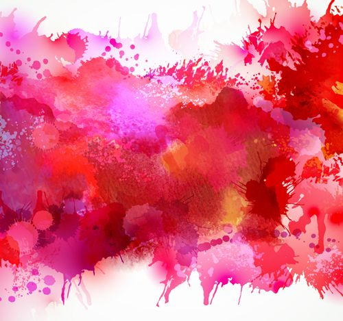 Red watercolor splash long vector clipart free image free library Multicolor watercolor splash background illustration vector ... image free library