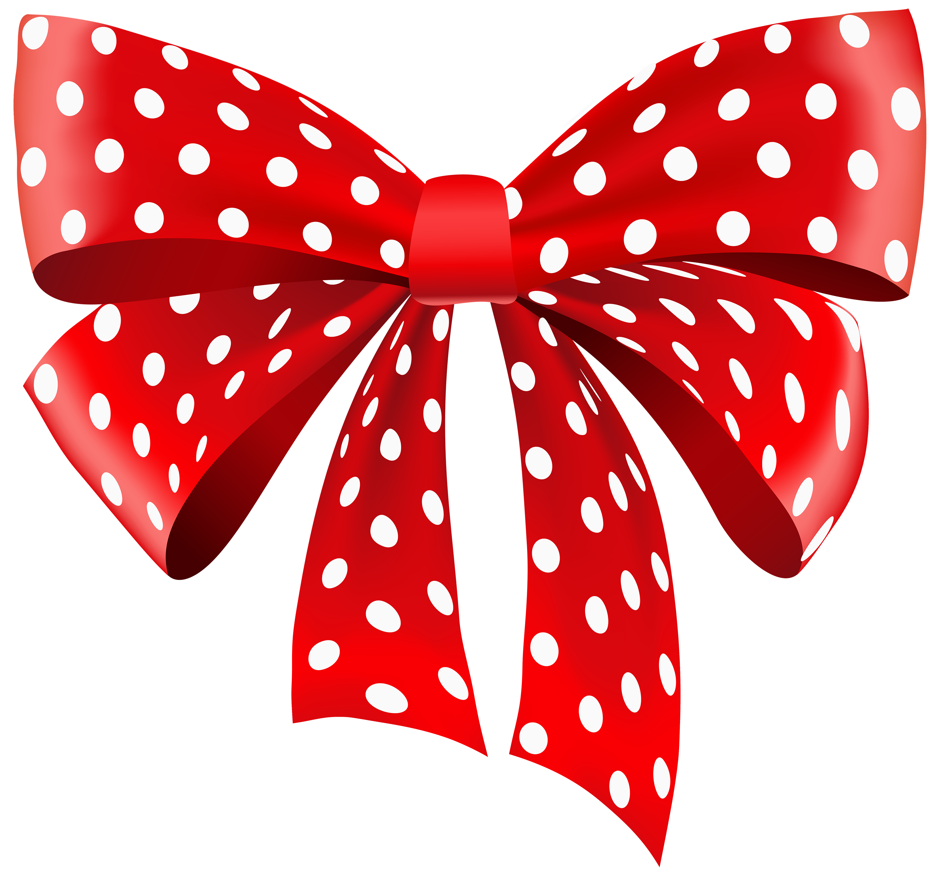 Red white and black polka dot ribbon clipart png transparent library Red Dotted Ribbon PNG Clipart - Best WEB Clipart png transparent library