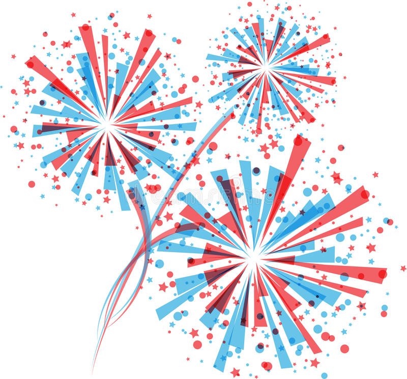 Red white and blue firework clipart vector royalty free Red white and blue fireworks clipart 2 » Clipart Station vector royalty free