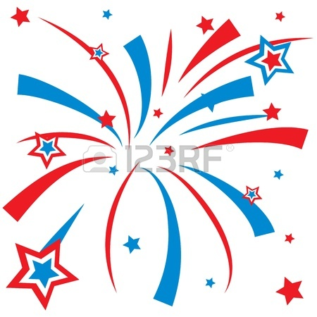 Red white and blue firework clipart png stock Red white and blue fireworks clipart » Clipart Station png stock