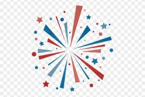 Red white and blue firework clipart vector transparent stock Red white and blue fireworks clipart 3 » Clipart Portal vector transparent stock