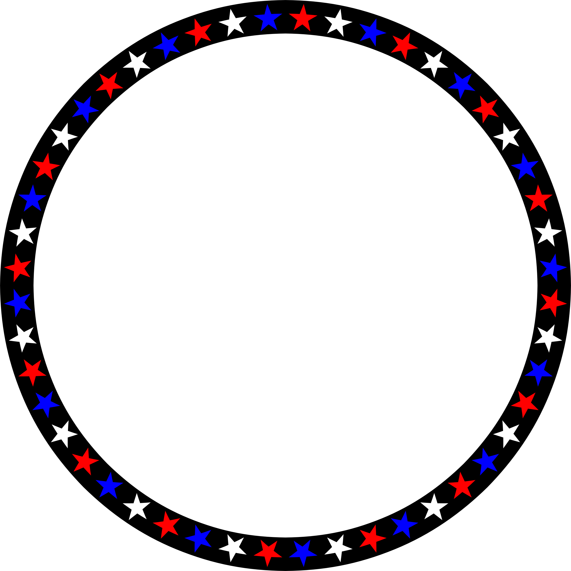 Red white and blue star border clipart png freeuse library Clipart - Red White Blue Stars Circle png freeuse library