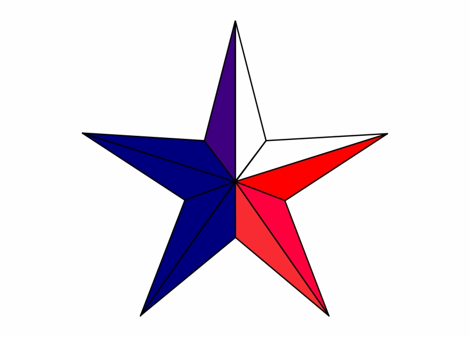 Red White And Blue Stars Clipart - Texas Star Icon Png ... image stock
