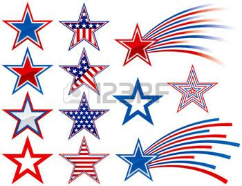 Red White Blue Stars Cliparts, Stock Vector And Royalty Free ... vector black and white stock