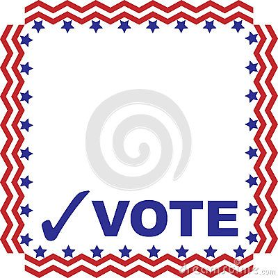 Red white and blue vote clipart clipart download Box, frame or advertisement with the word VOTE and a check ... clipart download