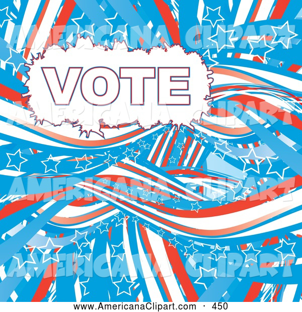 Red white and blue vote clipart png transparent download Americana Vector Clip Art of a Patriotic American Flag Vote ... png transparent download