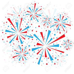 Red White And Blue Fireworks Clipart | Free Images at Clker ... banner transparent stock