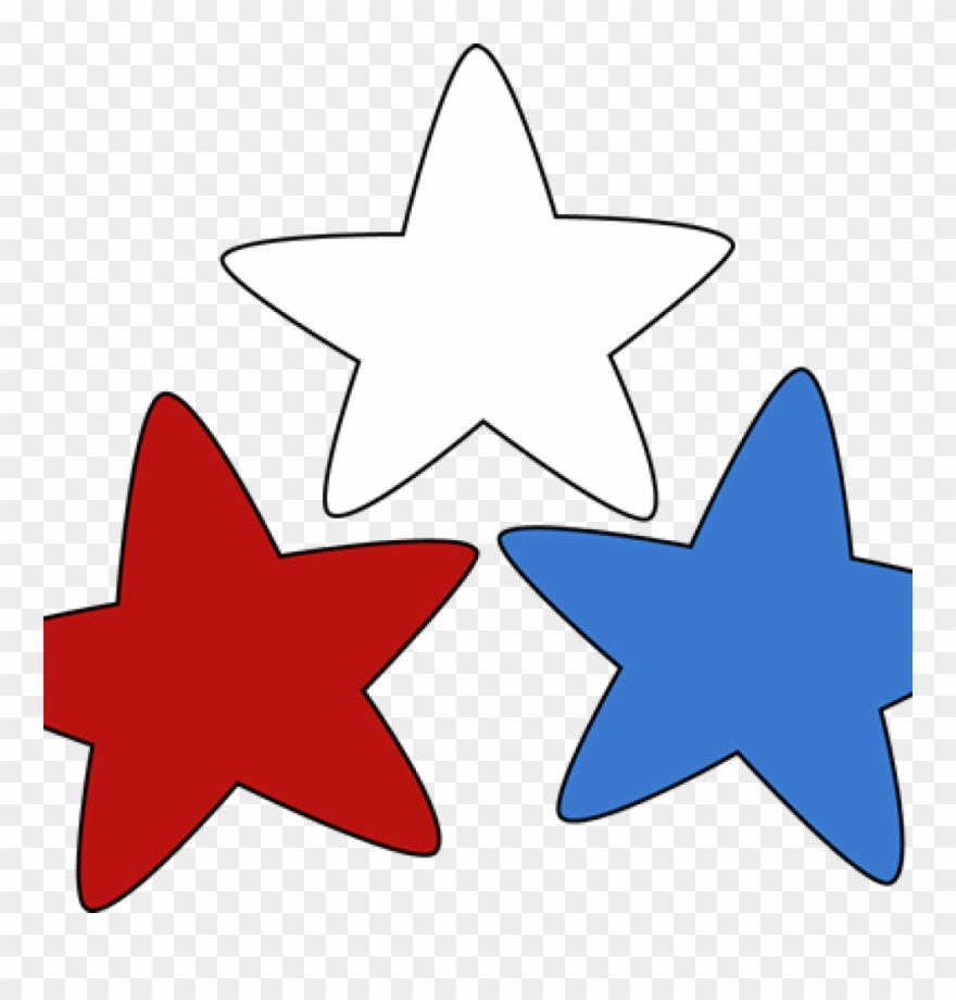 White Star Clipart Clip Art Images Free - Red White Blue ... vector black and white download