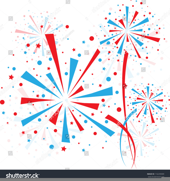 Red White And Blue Fireworks Clipart | Free Images at Clker ... clip art library
