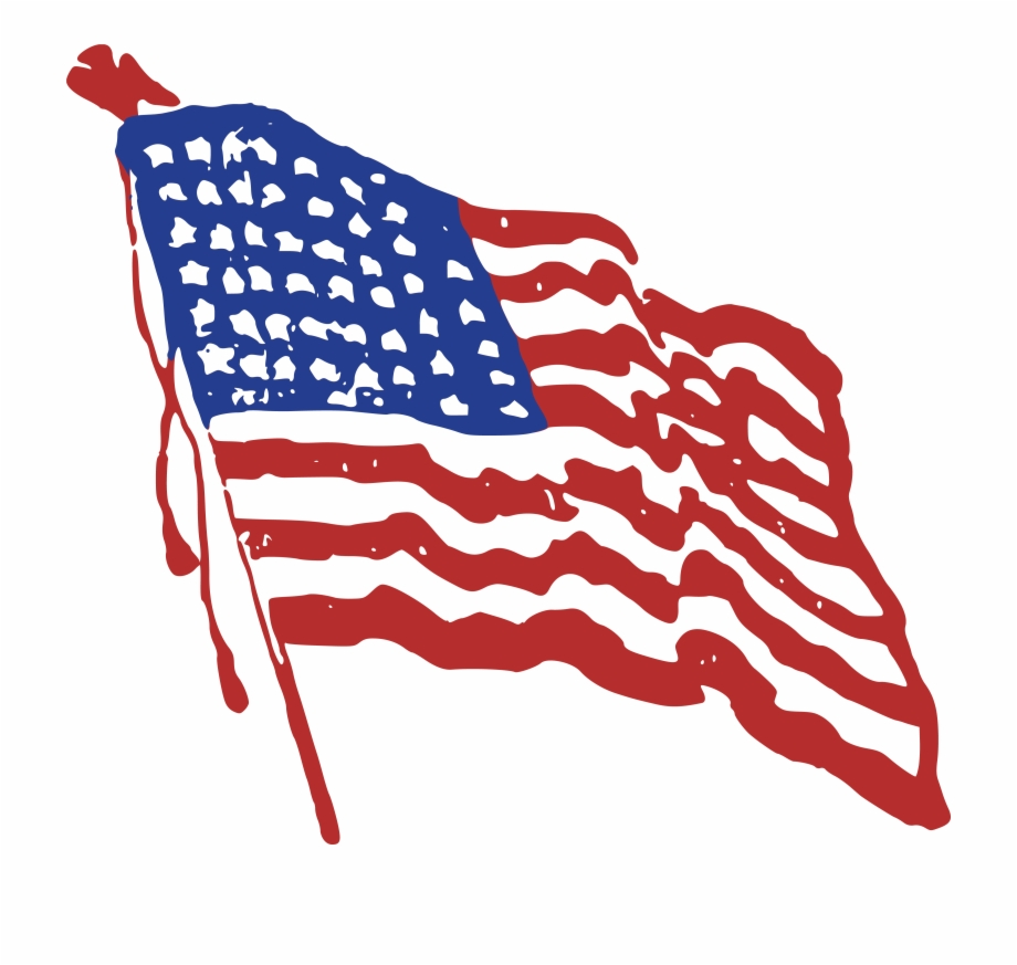 Free Of A Rippling American - Red White Blue Clipart Free ... clip art freeuse library