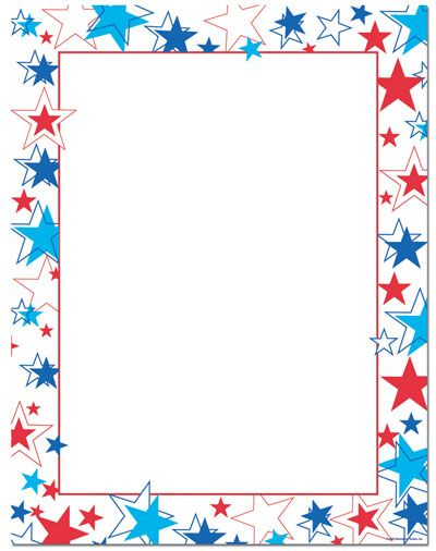 Red White Blue Stars Letterhead | Patriotic Papers | Red ... graphic transparent stock