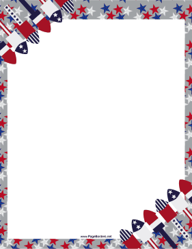 Lines of red-white-and-blue rockets and fireworks are ... clip art transparent
