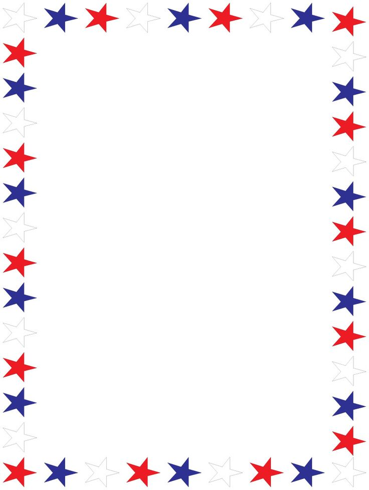 Red white blue patriodic borders clipart clip transparent library Patriotic Border Clipart | Free download best Patriotic ... clip transparent library