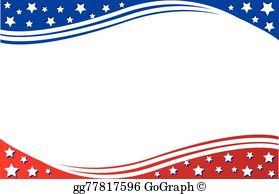 Patriotic Border Clip Art - Royalty Free - GoGraph picture black and white stock