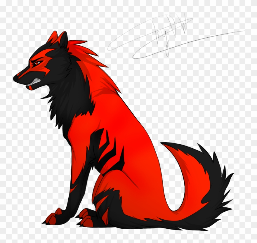 Black And Red Wolf Clipart (#1575606) - PinClipart banner
