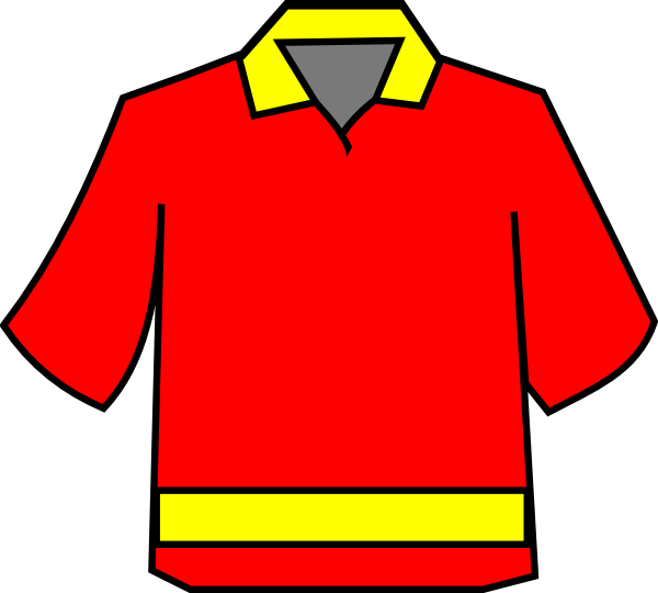 Red yellow clipart library Club Shirt Red/yellow Clip Art at Clker.com - vector clip ... library
