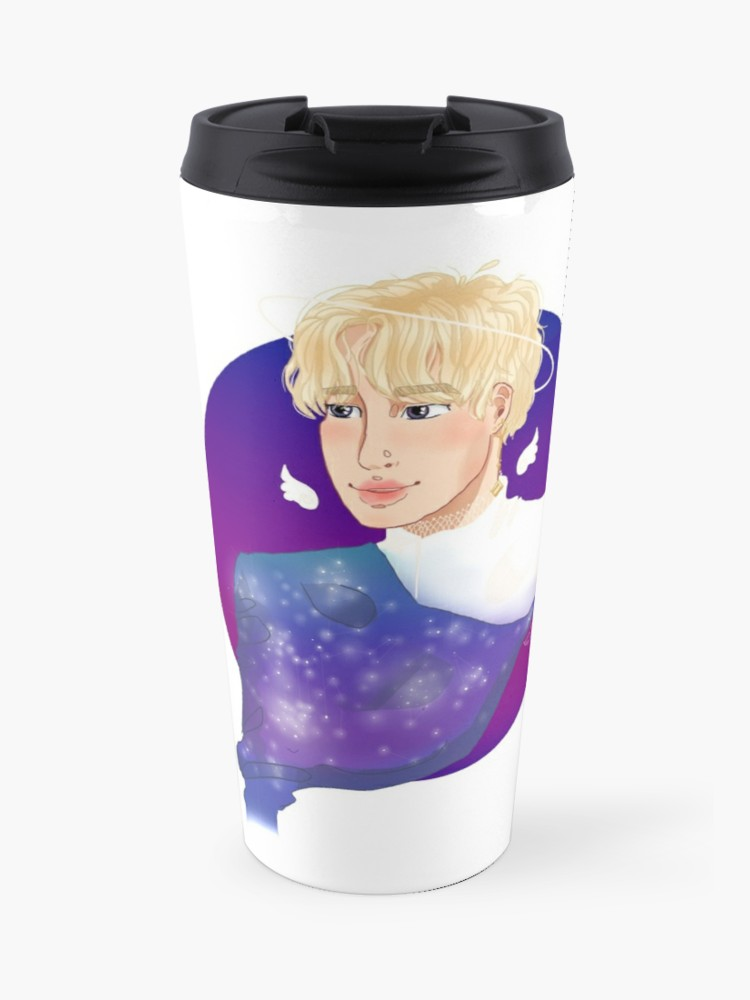 Of Stardust and Angel\'s Wings~ BTS Jimin Clipart | Travel Mug svg black and white download
