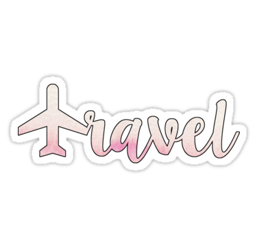 Travel w/ Plane Pink | Sticker | stickers | Stickers, Cute ... clipart freeuse stock