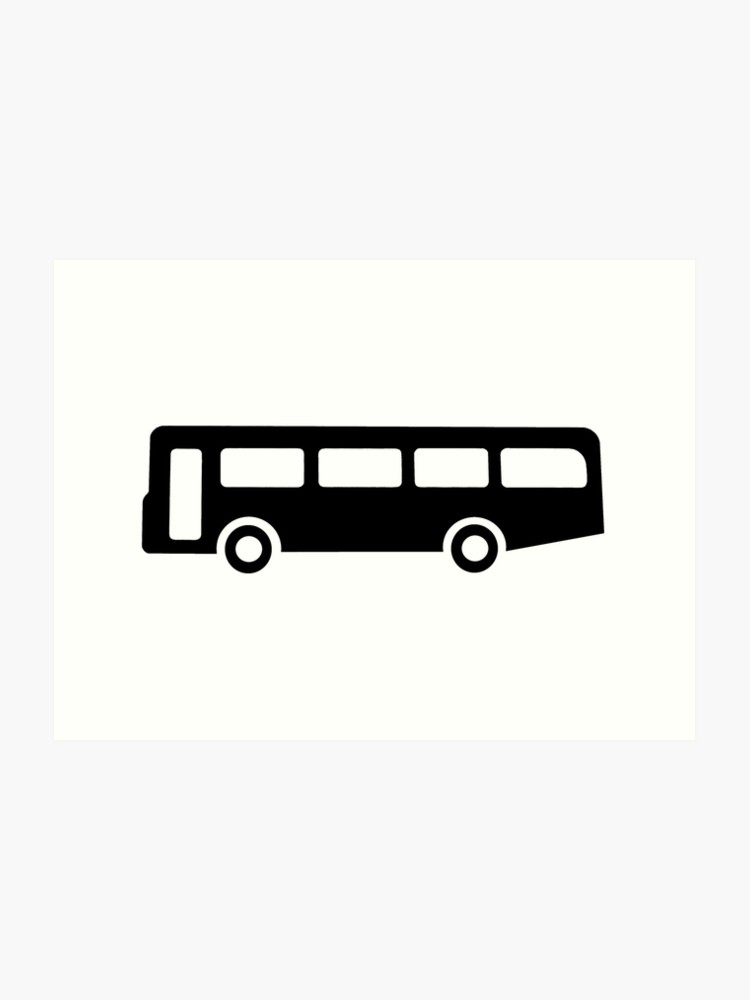 bus or coach sign as clipart | Art Print picture freeuse download