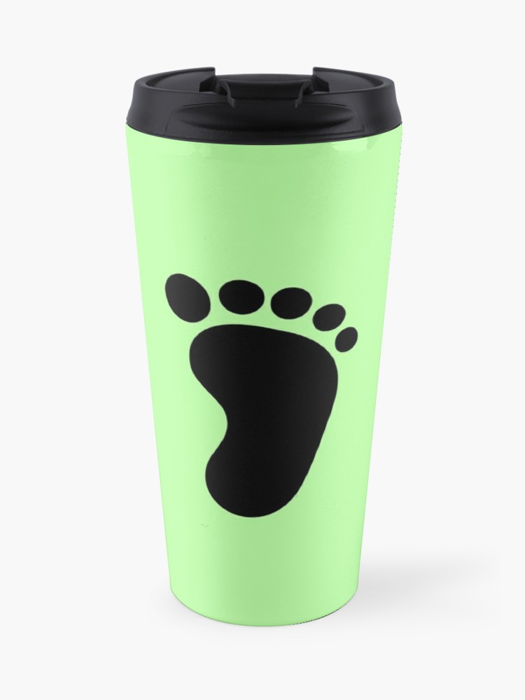 Redbubble travel cliparts clip art black and white stock Cute baby feet Clipart | Travel Mug clip art black and white stock