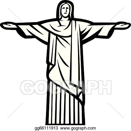 Clip Art Vector - Christ the redeemer statue. Stock EPS ... png