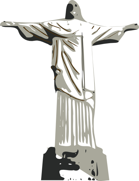 Christ The Redeemer Statue clip art (116946) Free SVG ... banner library download