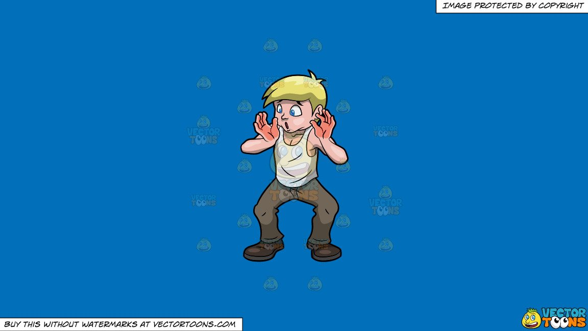 Redhanded clipart clip art Clipart: Caught Red Handed on a Solid Spanish Blue 016Fb9 Background clip art