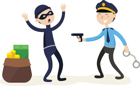 Redhanded clipart jpg transparent stock The Policeman Arrested The Thief Red Crime Flat premium ... jpg transparent stock