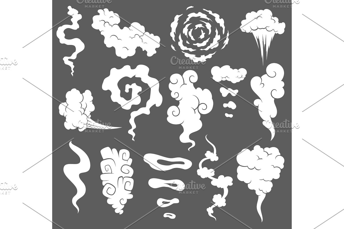 Redolent clipart jpg download Bad smell. Smoke clouds. Steam smoke jpg download