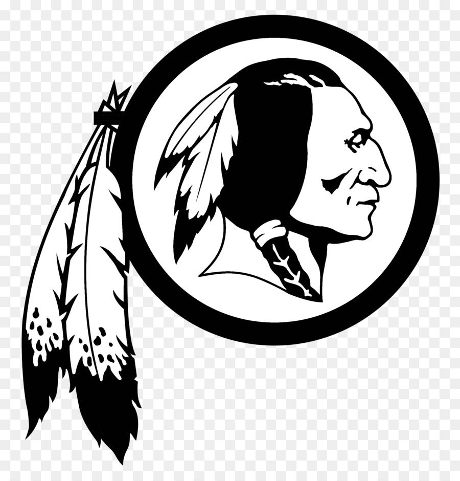 Redskins clipart picture black and white stock Bird Line Drawing clipart - Nfl, Black, Art, transparent ... picture black and white stock