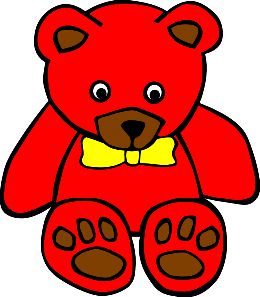 Red Teddy Bear Clipart png freeuse download