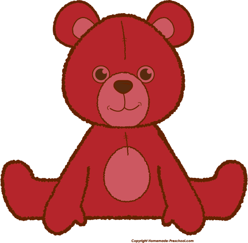 Red Teddy Bear Clipart jpg royalty free stock