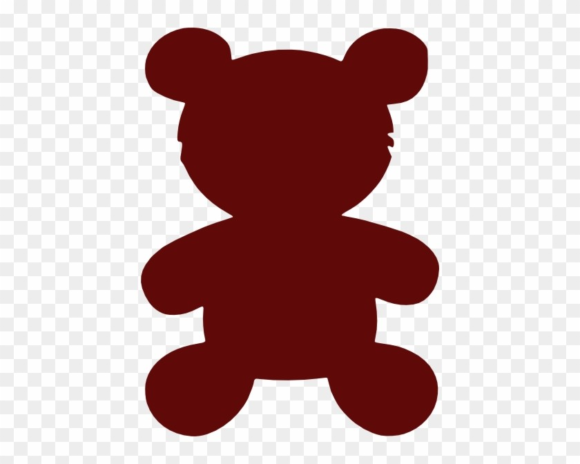 12 123561 Red Teddy Bear Outline 12 Teddy Bear Outline ... image transparent