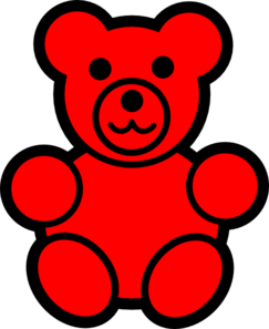 Red Teddy Bear Clipart png library download