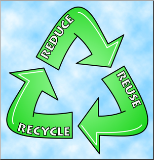 Reduce reuse recycle clipart jpg royalty free download Clip Art: Reduce, Reuse, Recycle Logo 1 Color 1 I abcteach ... jpg royalty free download