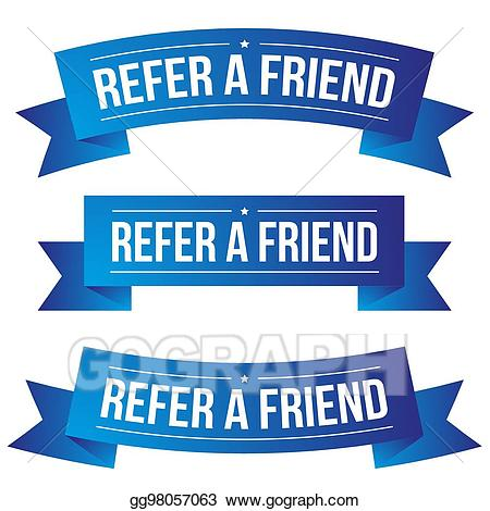 Refer a friend clipart graphic library Vector Clipart - Refer a friend ribbon. Vector Illustration ... graphic library