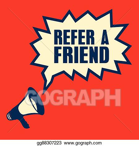 Vector Clipart - Business concept with text refer a friend ... banner transparent