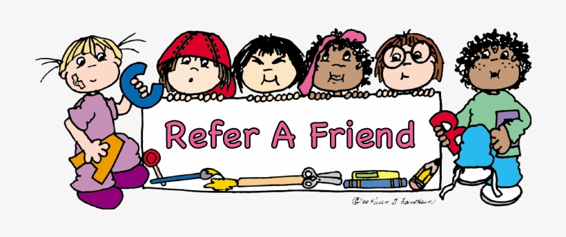 Refer A Friend Clipart - Free Transparent PNG Download - PNGkey black and white stock
