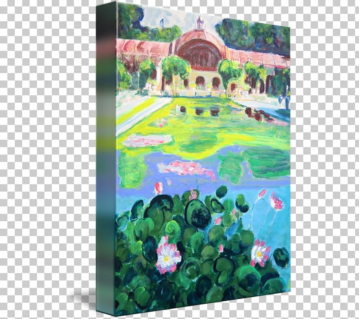 Balboa Park Painting Gallery Wrap Art Reflecting Pool PNG ... image royalty free library