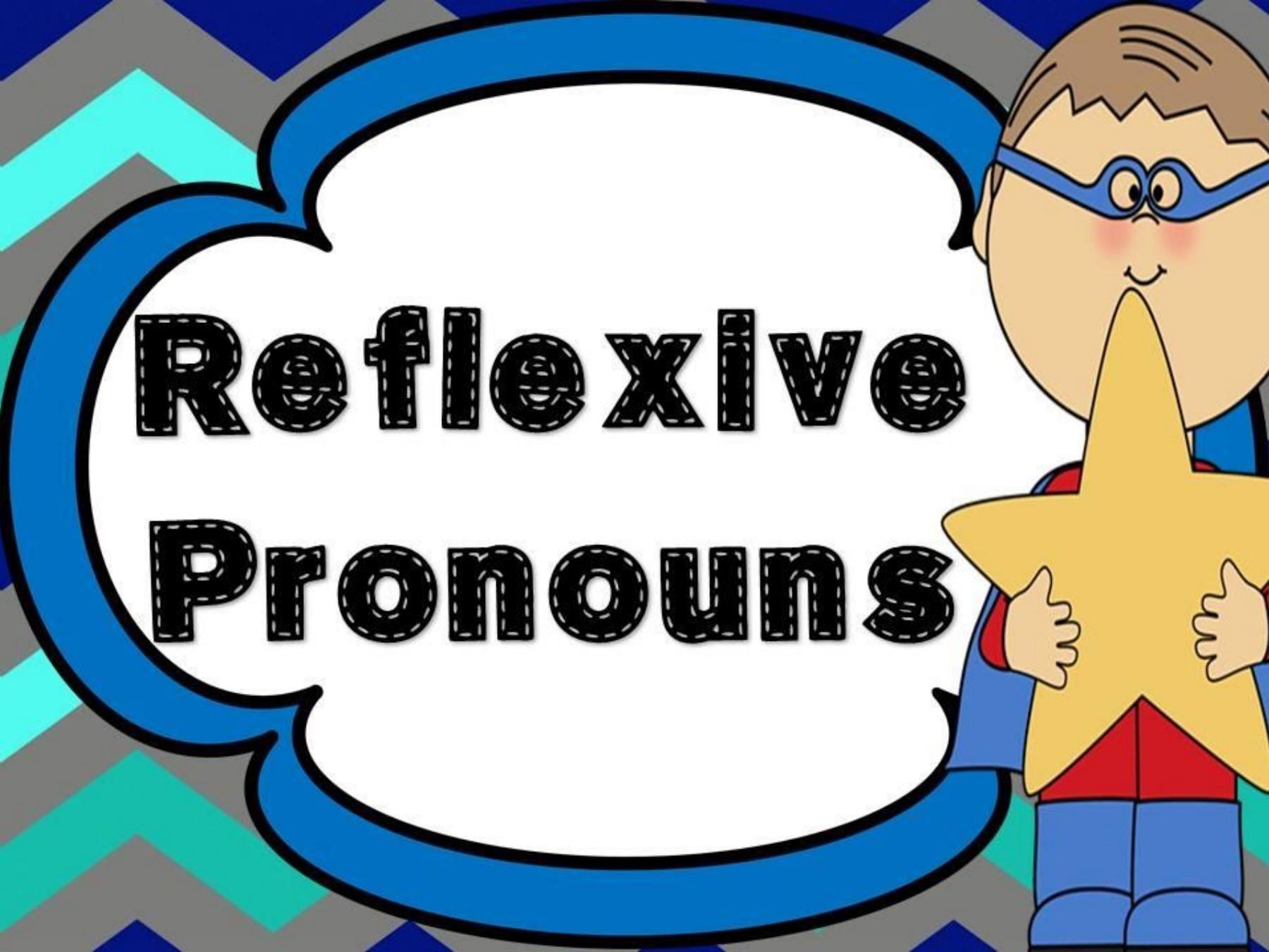 Reflexive pronoun clipart clipart black and white REFLEXIVE PRONOUNS clipart black and white