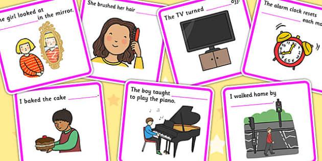 Fill In The Sentence Reflexive Pronouns - pronoun, SEN, literacy image transparent
