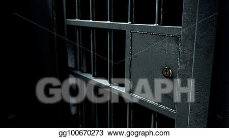 Reformatory clipart svg black and white Stock Illustration - Jail cell door and welded iron bars ... svg black and white