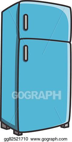 Refrigerator cartoon clipart vector royalty free stock Vector Art - Refrigerator vector cartoon . Clipart Drawing ... vector royalty free stock