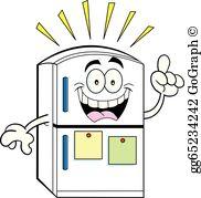 Refrigerator cartoon clipart clip transparent Refrigerator Clip Art - Royalty Free - GoGraph clip transparent