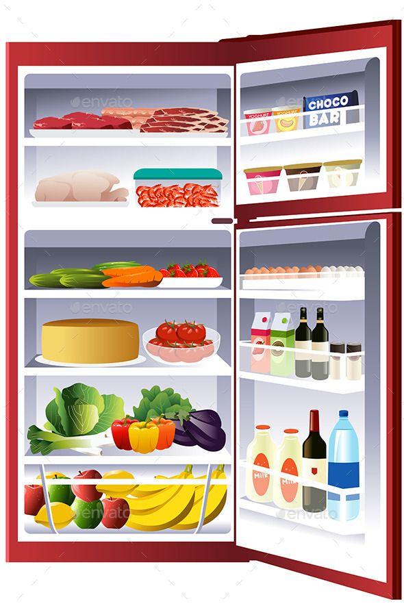 Refrigerator cartoon clipart clipart freeuse stock Inside of a Refrigerator (CS, cake, cartoon, clip-art ... clipart freeuse stock