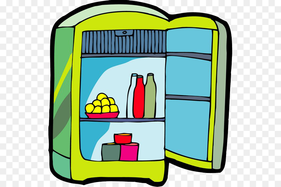 Refrigerator cartoon clipart transparent library Frozen Food Cartoon png download - 589*600 - Free ... transparent library