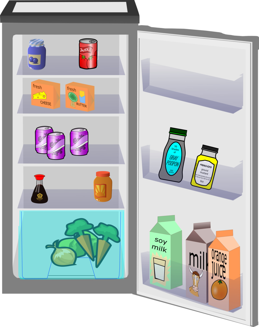 Clipart refrigerator vector library library Kitchen Cartoon clipart - Refrigerator, Kitchen, Technology ... vector library library
